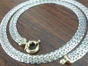 950 PLATINUM & 18K GOLD THICK FLAT CHAIN NECKLACE 20.2g ITALY 17.75""